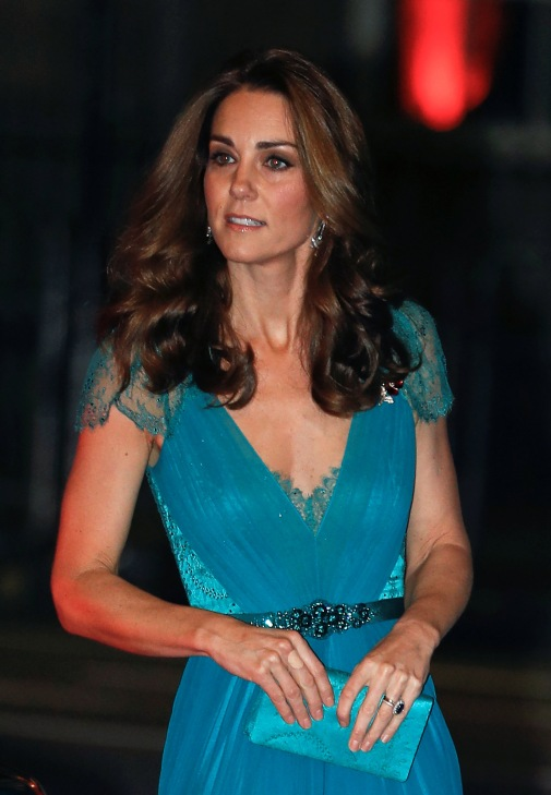 Catherine, the Duchess of Cambridge, arrives at the Tusk Conservation Awards at the Banqueting House in London, Britain November 8, 2018. REUTERS/Peter Nicholls